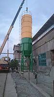 Силос для цемента и инертных материалов на 75 тонн. с двойным конусом KARMEL, фото 1