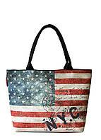 Коттоновая сумка Poolparty с трендовым принтом Флаг Америки