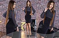 Платье деловое с принтом
