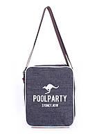 Мужская джинсовая сумка Poolparty с ремнем джинс