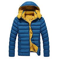 Мужские зимние куртки с капюшоном оптом 5261