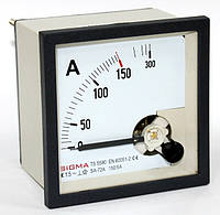 Амперметр 0-150А (150/5) панельный переменного тока 72х72мм стрелочный шкаф щитовой цена