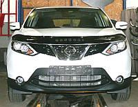 Декоративно-защитная сетка радиатора Nissan Qashqai 2013-  бампер
