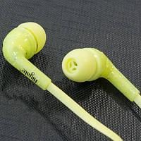 Гарнитура AIYALE A17 (Желтый) наушники с микрофоном вакуумные для телефона смартфона планшета айфона самсунга
