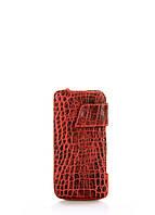 Кожаный чехол Poolparty для iPhone красный