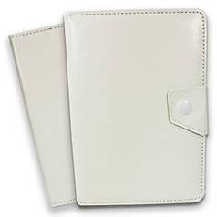 Чехол книжка универсальный 7 дюймов (Белый) для планшетов Samsung Lenovo Xiaomi крепление скобы