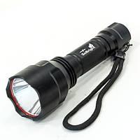 Фонарь ручной светодионый CREE XPE Q5 Черный противоударный влагостойкий с аккумулятором