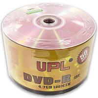 Диск DVD R UPL 4,7 GB Pink 16х bulk 50 шт двд дисков для записи информации видео музыки