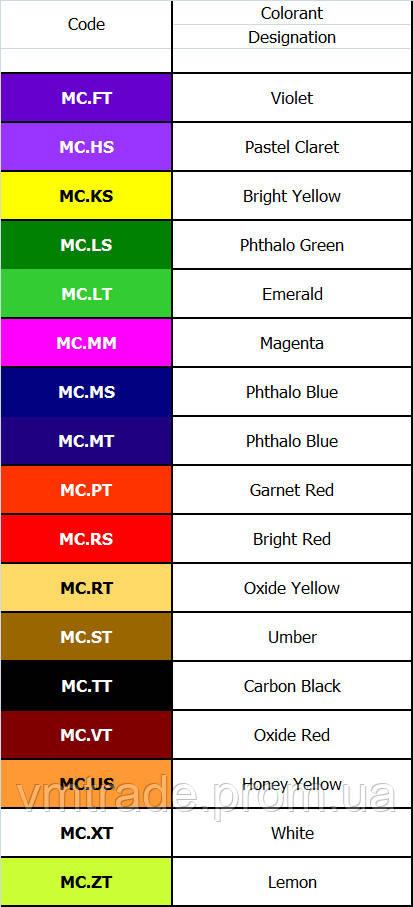 Пигмент  Monicolor VT MeToo, 1л (коричневый)
