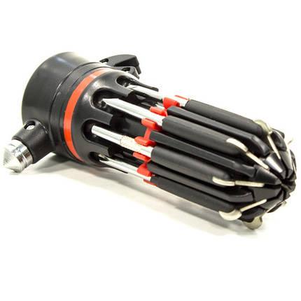 Фонарь светодиодный Cree 804 (Черный) тактический ручной с набором отверток крестообразная плоская, фото 2
