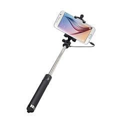 Монопод для смартфона Z 07 5S кабель 3. 5 раскладной на 6 секций металл с кнопкой для Xiaomi Samsung (Черный)