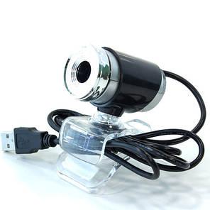 Веб камера компьютерная WC 890 (Черный) для скайпа windows usb 2.0 юсб ручной фокус, фото 2