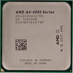 Процессор AMD A4 - 4020 3,2 Ггц 5000 MHz 1 MB sFM2 AD4020 OKHL BOX компьютерный
