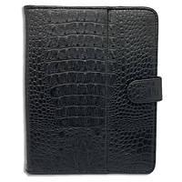 Чехол книжка подставка Crocodile (Черный) для планшетоа 10 дюймов Samsung Xiaomi Lenovo