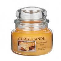 """Ароматическая свеча в стекле Village Candle """"Теплый хлеб"""". 315 гр/ 55 часов"""