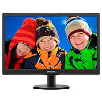 ■Монитор 22 дюйма PHILIPS 223V5LSB2/62 Black WLED TN 1920x1080 5 мс 250 кд м2