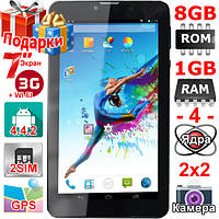 Звонящий 2 сим Планшет Samsung Tab 7 HD 7 дюймов 2 sim 3G Ram 1 Gb Rom 8 Gb GPS 4 ядра 3000 mAh OTG Телефон