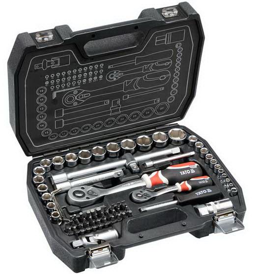 Набор инструментов ключей Yato 72 предмета YT-38782 комплект