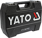 Набор инструментов ключей Yato 72 предмета YT-38782 комплект, фото 3