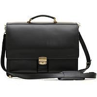 Кожаный мужской портфель ПАВ-25 черный