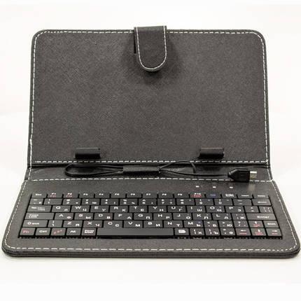 "Чехол 7 "" Lesko с клавиатурой для планшета Samsung Xiaomi Lenovo RU EN micro Usb таблет планшет ipad, фото 2"