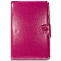 """Чехол книжка - универсальный 10 """" (Розовый) для планшета samsung lenovo xiaomi крепление скобы"""