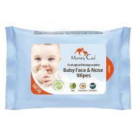 Mommy Care Влажные органические назальные салфетки для младенцев с морской солью алоэ и ромашкой 24 шт, фото 2
