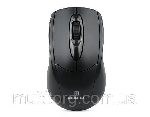 Мишка REAL-EL RM-207, USB, black