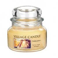 """Ароматическая свеча в стекле Village Candle """"Праздник"""". 315 гр/ 55 часов"""