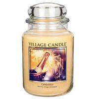 """Ароматическая свеча в стекле Village Candle """"Праздник"""". 740 гр/ 170 часов"""
