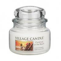 """Ароматическая свеча """"Рождество на пляже"""" в стекле Village Candle. 315 гр/ 55 часов"""