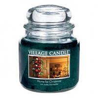 """Ароматическая свеча """"Рождественский дом"""" в стекле Village Candle. 455 гр/ 105 часов"""