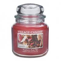"""Ароматическая свеча в стекле Village Candle """"Малиновый чай"""". 455 гр/ 105 часов"""