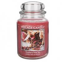 """Ароматическая свеча в стекле Village Candle """"Малиновый чай"""". 740 гр/ 170 часов"""