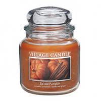 """Ароматическая свеча в стекле Village Candle """"Пряная тыква"""". 455 гр/ 105 часов"""