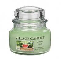 """Ароматическая свеча в стекле Village Candle """"Ломтики лета"""". 315 гр/ 55 часов"""