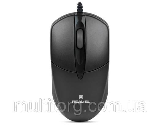 Мышка REAL-EL RM-211, USB, black