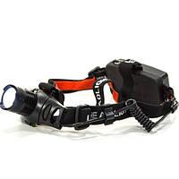 Фонарь налобный светодиодный UltraFire JX 105 (Черный) спортивный с зумом скалолазный для велосепедистов