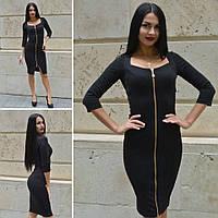 Женское платье со змейкой спереди в расцветках d-45031954