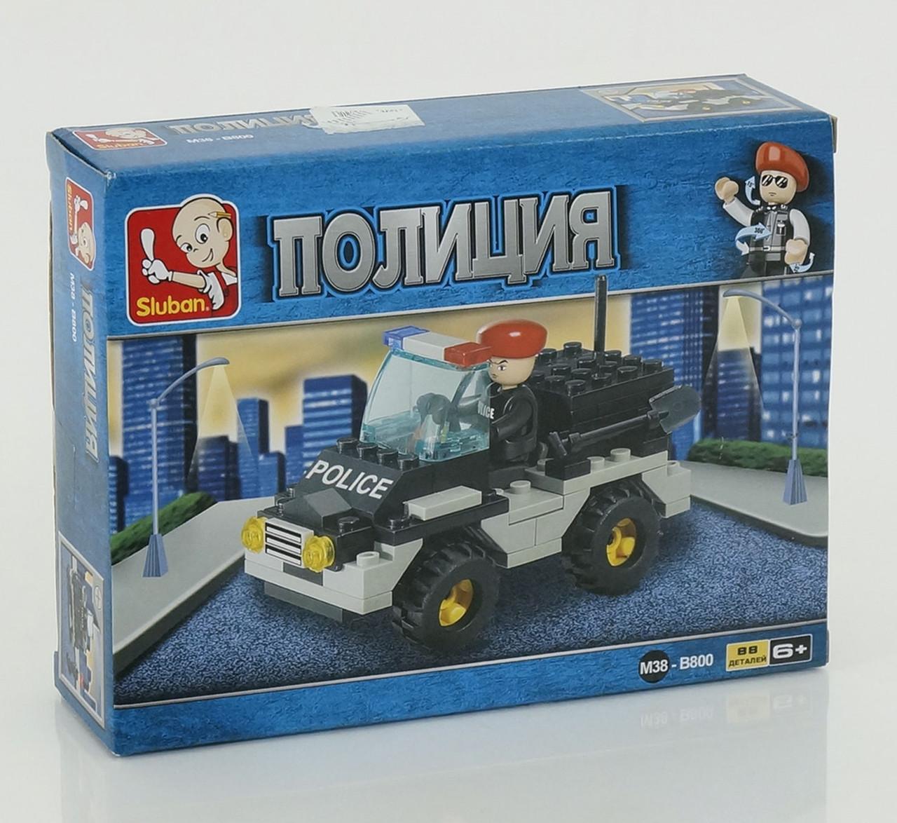 Детский конструктор полицейский фургон