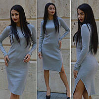 Женское платье с разрезом сбоку в расцветках g-45031956