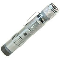 Фонарь ручной светодиодный Fox М11 (Серебро) карманный портативный тактический с электрошокером противоударный
