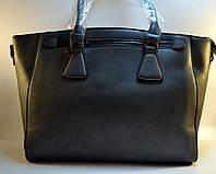 Женская сумка серая из кожзаменителя Н-4