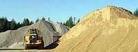 Песок щебень отсев 200 гр. доставка до 2 тонн.