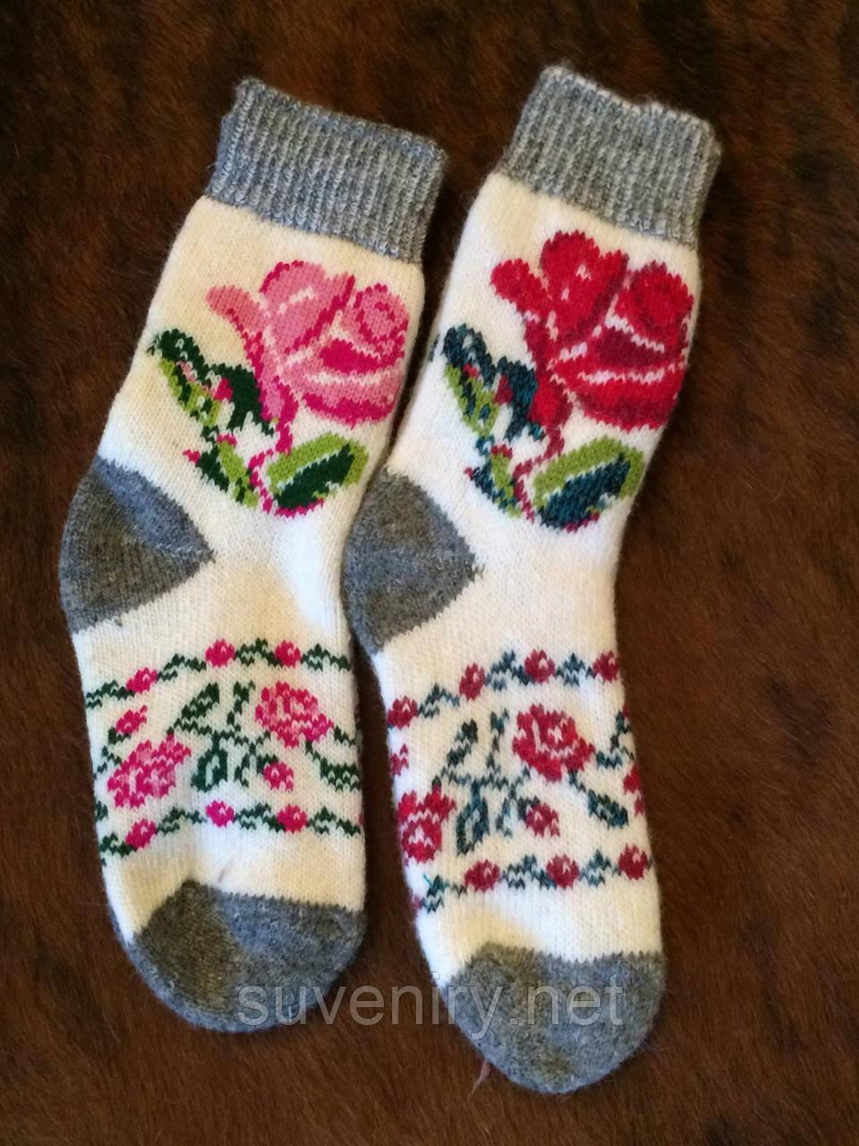 Женские носки из ангоровой шерсти