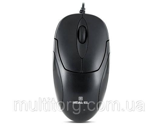 Мышка REAL-EL RM-212, USB, black
