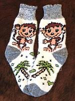 Женские ангоровые носки с рисунком обезьяны