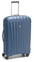 Пластиковый практичный дорожный чемодан 35 л. Roncato UNO ZIP 5083/02/86 кобальт