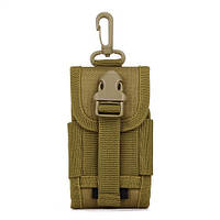 Милитари чехол, сумка с карабином для смартфона