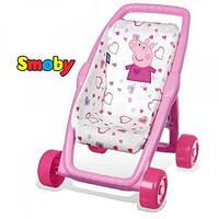 SMOBY Коляска прогулочная для куклы Свинка Пеппа My first pushchair Peppa Pig